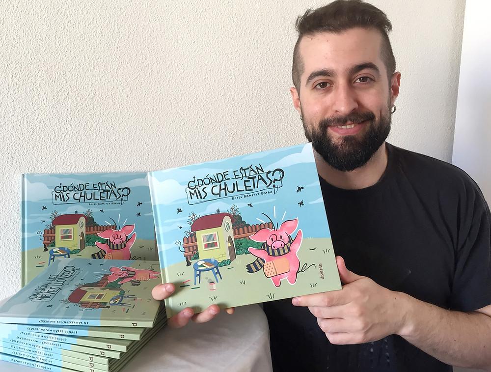 Boris Ramírez Barba, autor de ¿Dónde están mis chuletas?