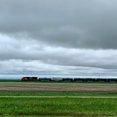 Trains in the prairies