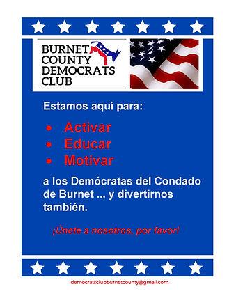 los Democratas del Condado de Burnet Texas