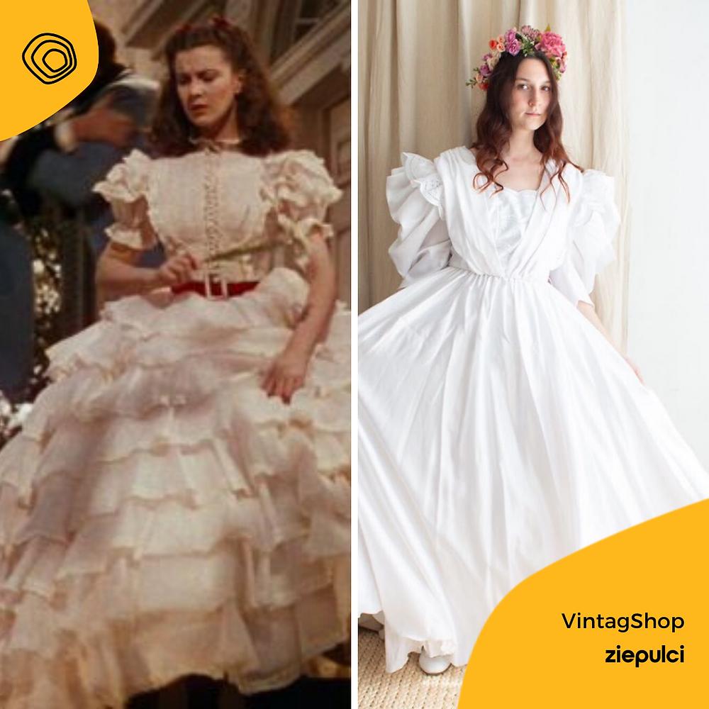 vintag vintage abito sposa via col vento