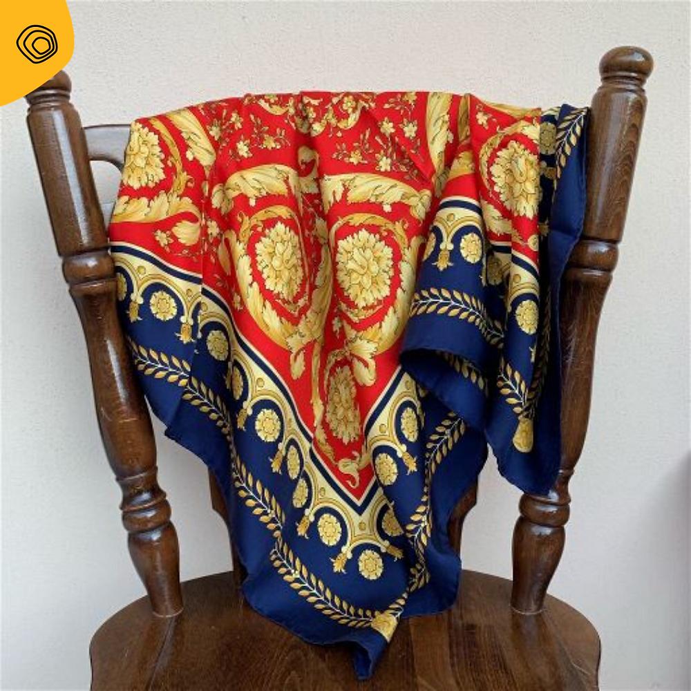 vintag vintage versace foulard seta