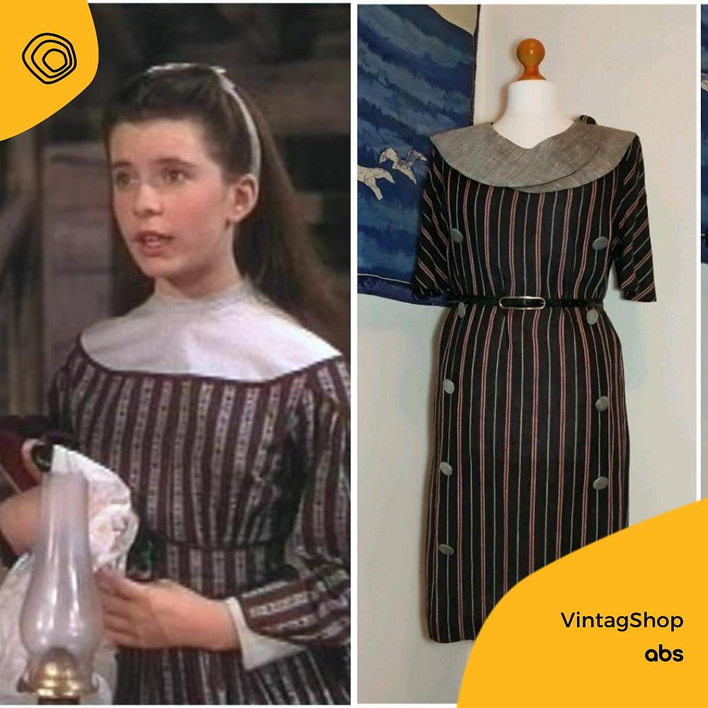 vintag vintage abito lino sartoriale anni 80