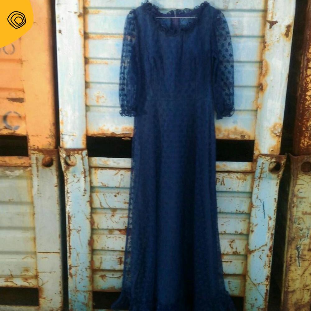 vintag vintage abito pizzo anni 70 hippy