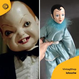vintag vintage bambola pierrot anni 70