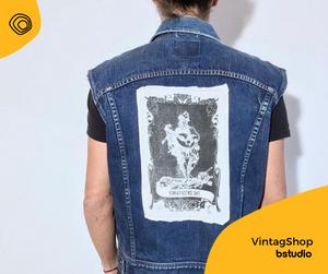 vintag vintage jeans handmade anni 90 tarocchi