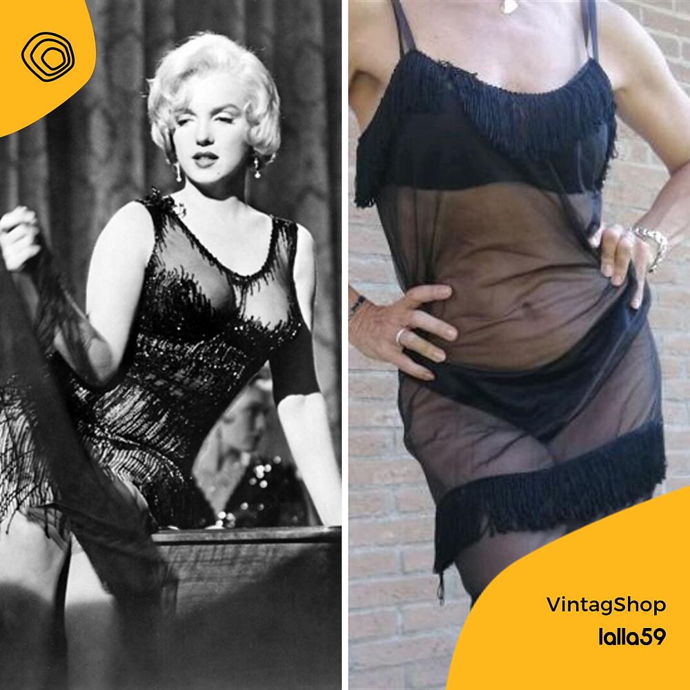 vintag vintage burlesque anni 50 sottoveste