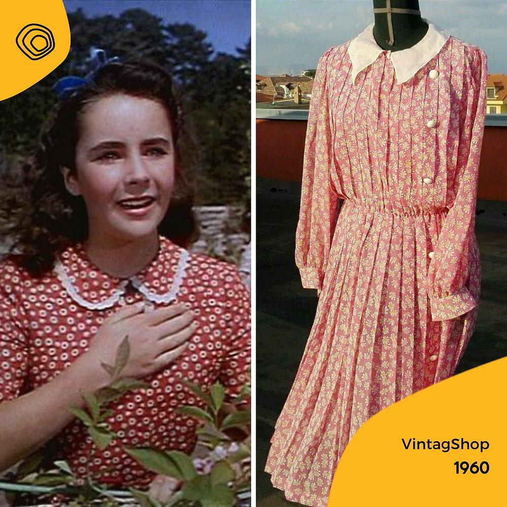 vintag vintage abito anni 80 fiori