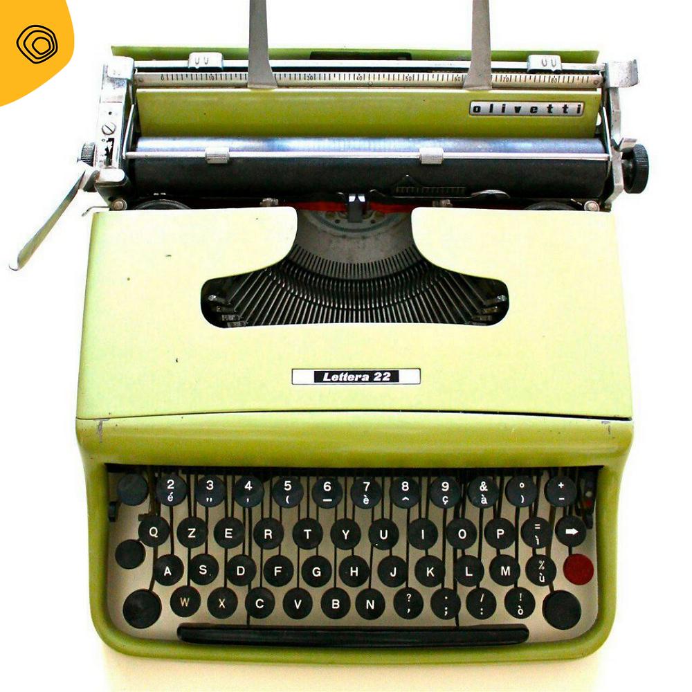 vintag vintage macchina da scrivere olivetti lettera-22