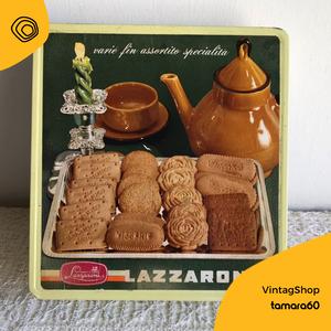 vintag vintage Lazzaroni scatole di latta