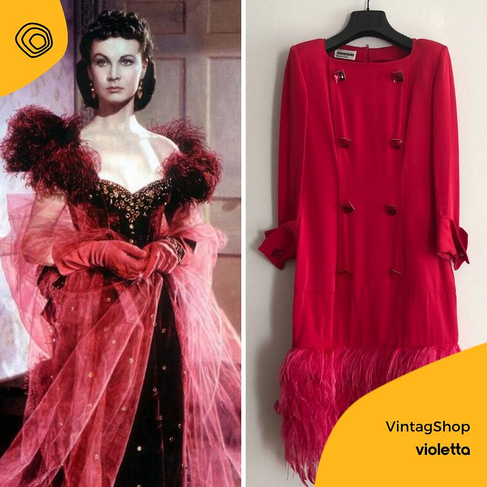 vintag vintage abito ani 80 Mimmina