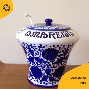 vintag vintage amarena fabbri vaso anni 70