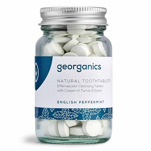 Georganics Natural Toothtablets - English Peppermint (120 Tablets)