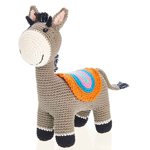 Pebble Ethical Toys - Standing Donkey with Rattle