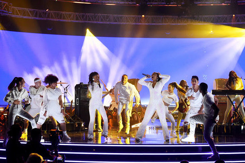 Performing with Chloe x Halle at the MTV Movie and TV Awards