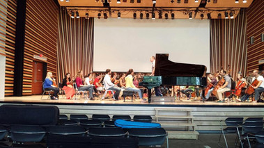 Rehearsing with Breckenridge Festival Orchestra