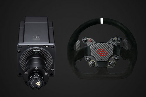 SIMAGIC ALPHA + GT1-D STEERING WHEEL