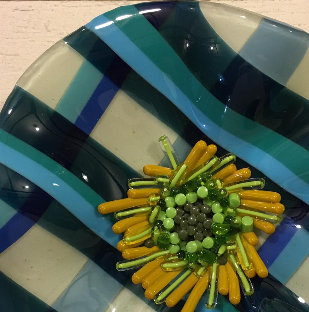Plaid Flower Bowl