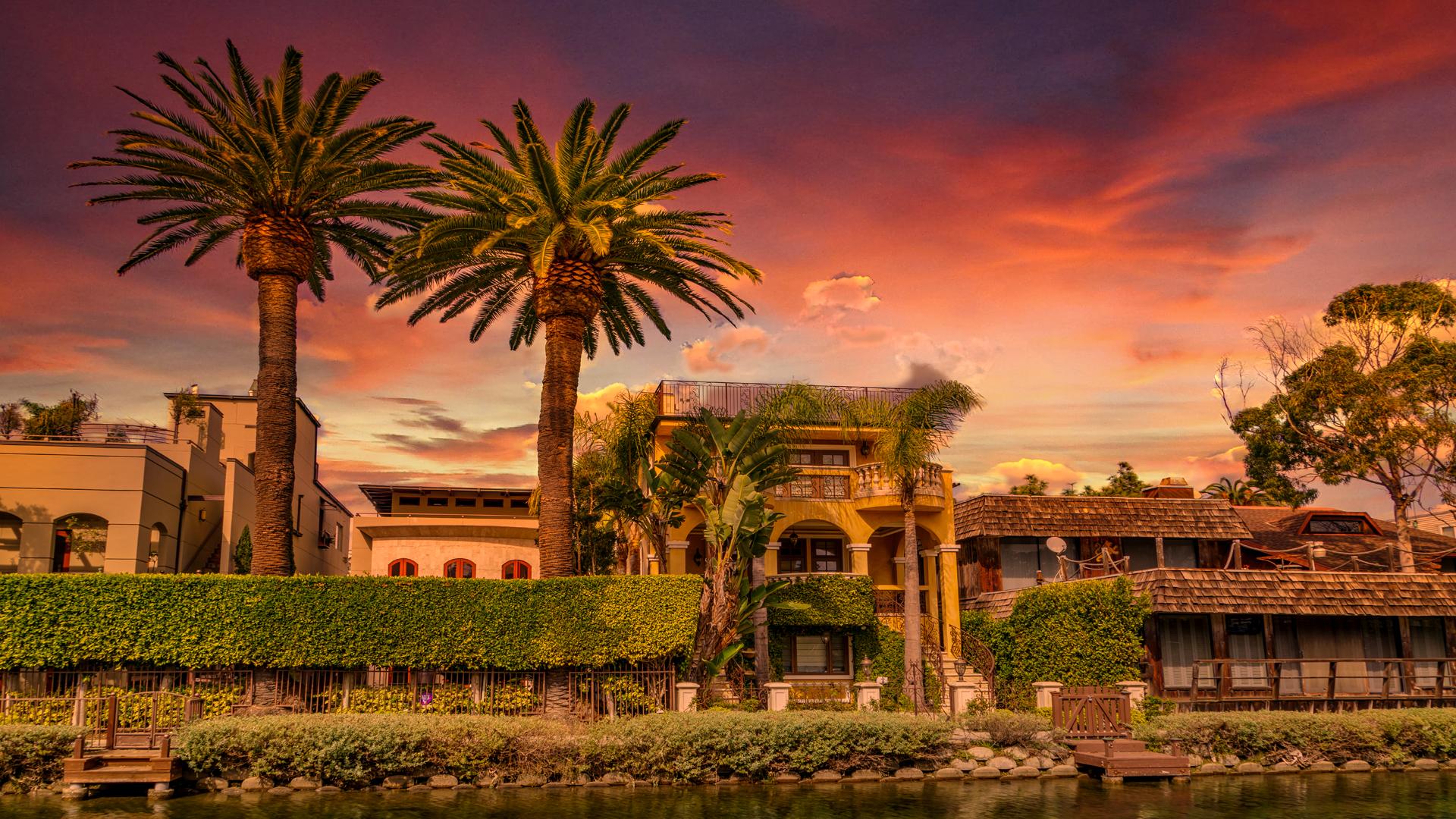 Venice Beach CanalsSunset5 2-14-18
