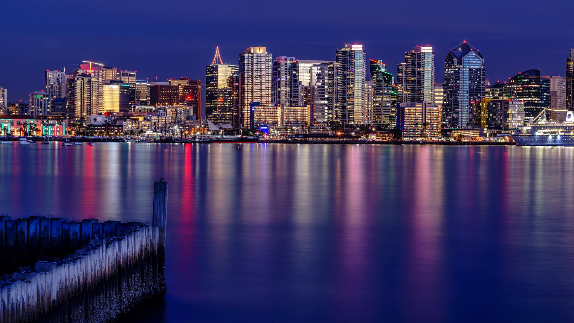 Cityscape Night1 San Diego
