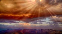 SunsetMinarets2sunrays