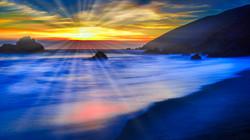 SunsetBigSur2sunrays