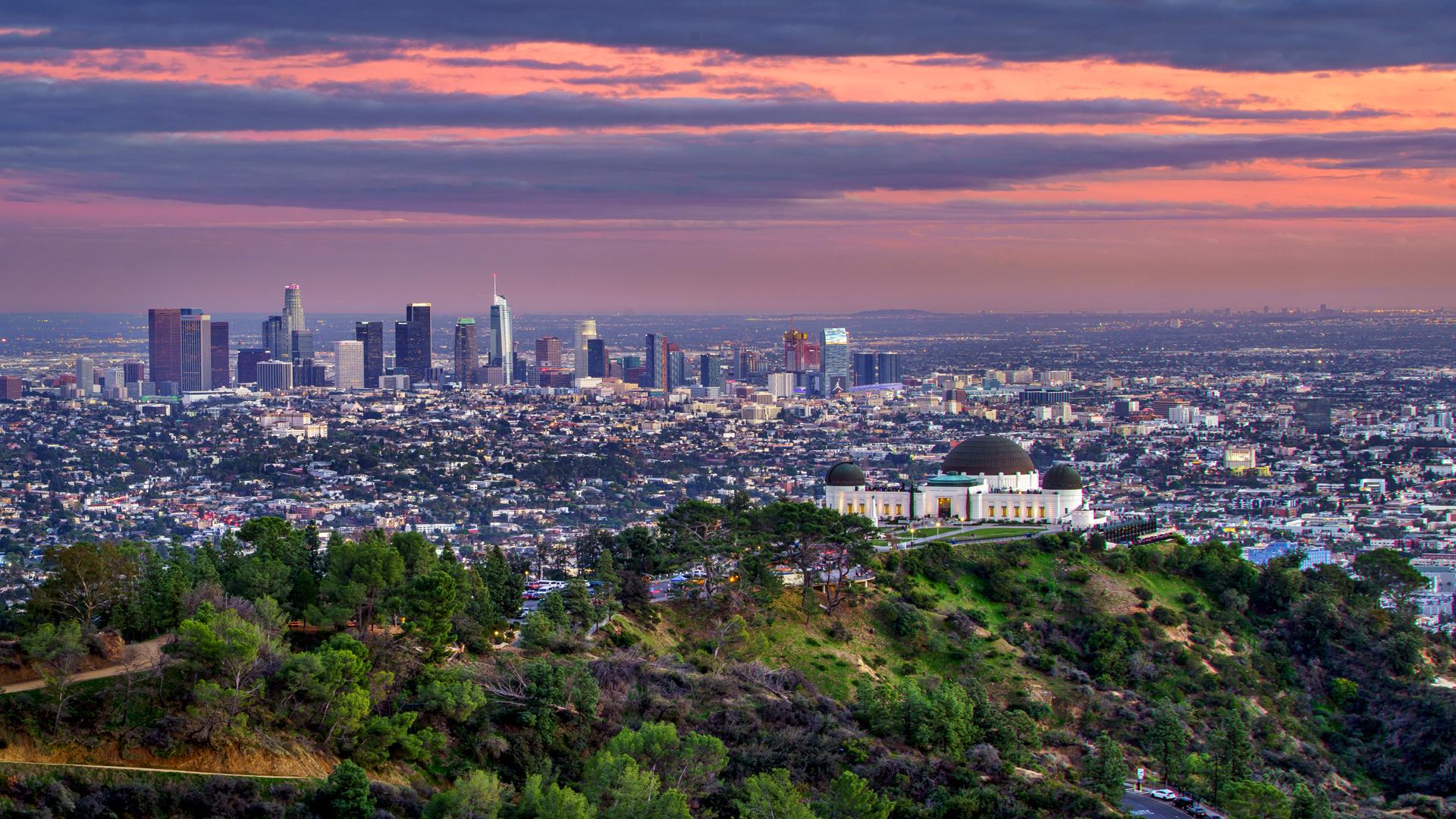 LA Griggith Park Sunset1 2-14-15