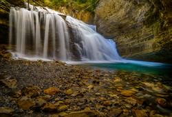 Johnston Canyon Falls7_HDR