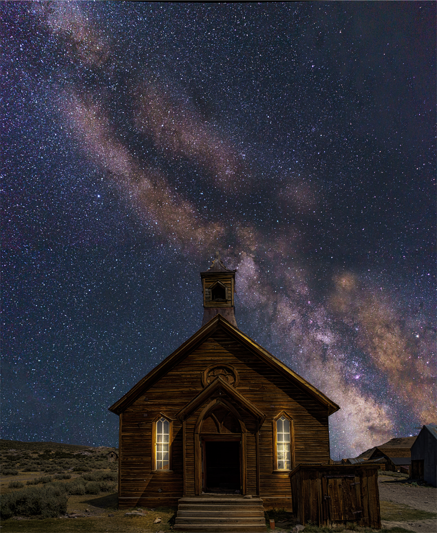 Milky Way Bodie Church1