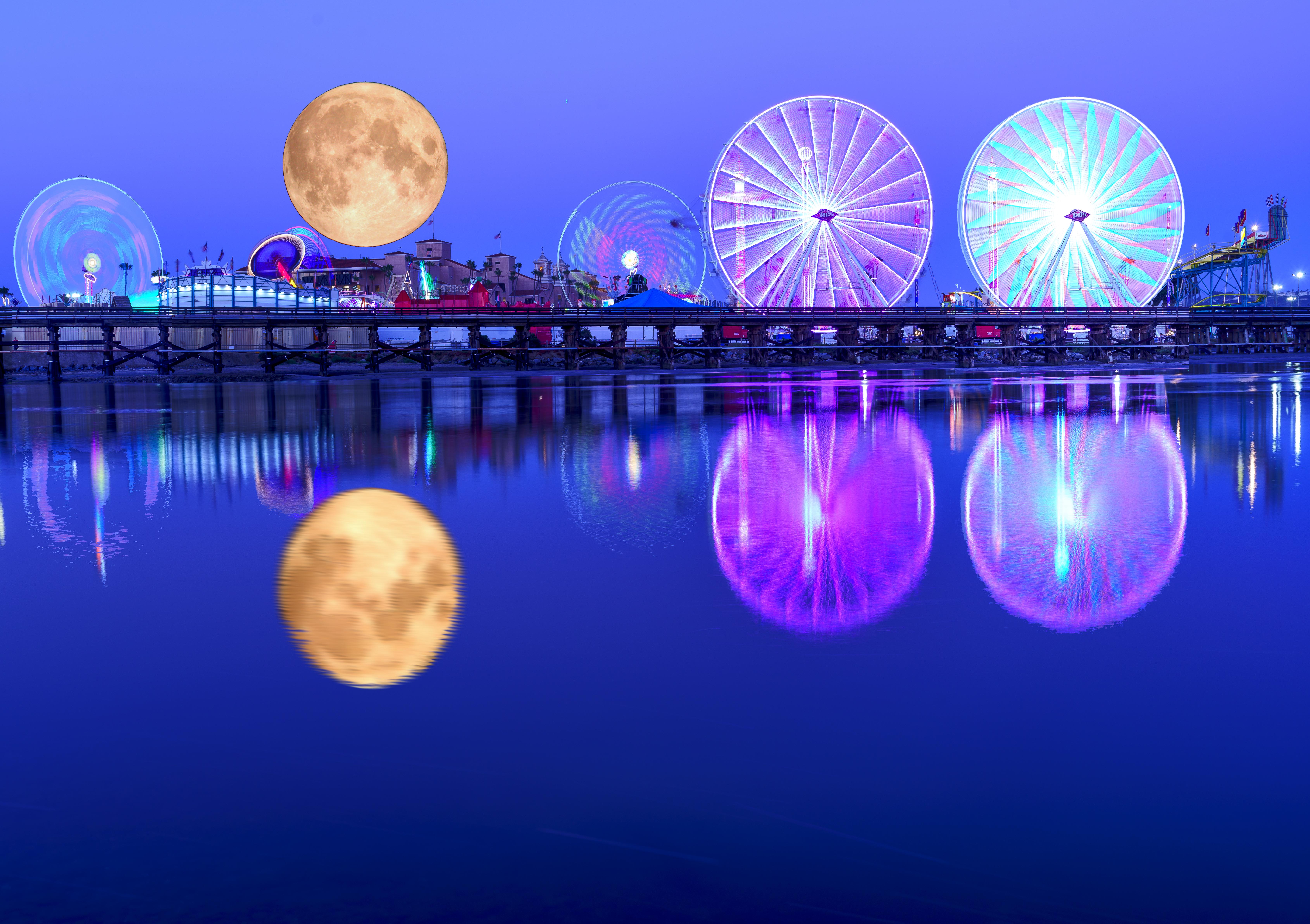 Del Mar Fair full Moon Composite
