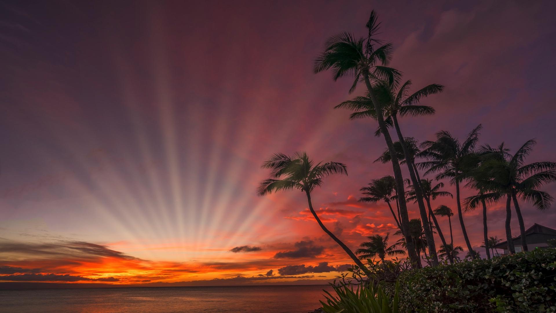Sunset Napili Kai2sunrays