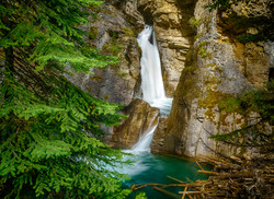 Johnston Canyon Falls1_HDRx
