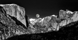 Yosemite Valley Moon BW2