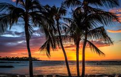 Sunset near Kona, Hawaii