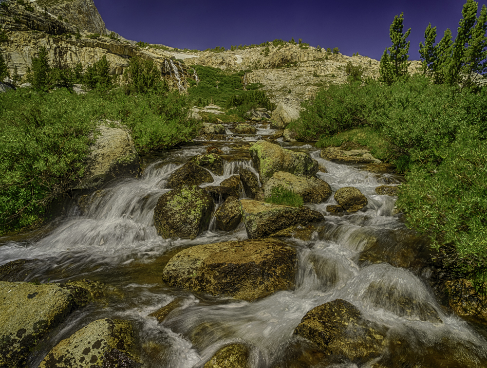 Cascade at 20 Lakes Basin, Yosemite