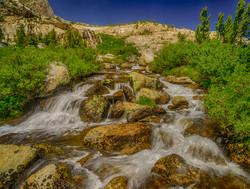 Cascade at 20 Lakes Basin, Yosemite
