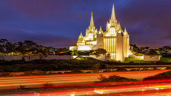 Mormon Temple Night2