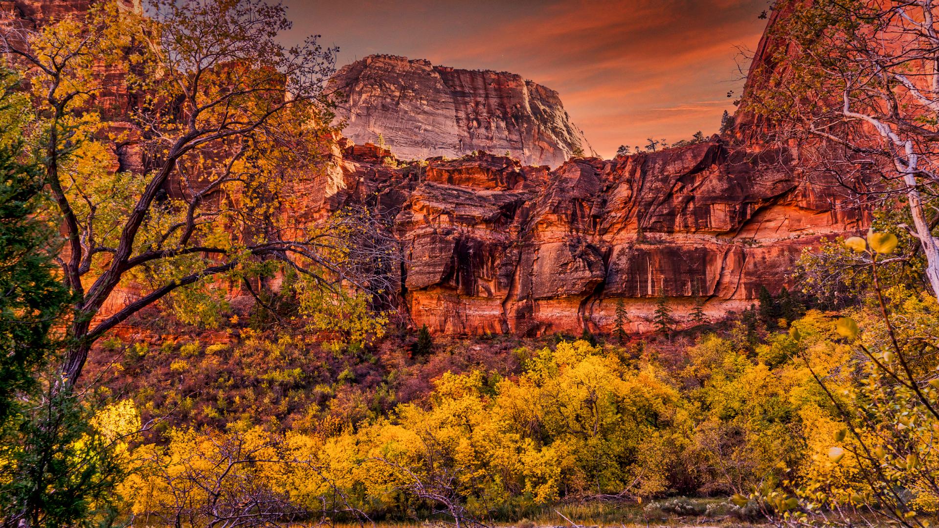 Zion Sunset Valley Walls4