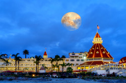 Full Moon over Hotel Del1 Coronado
