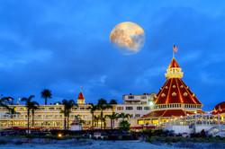 Full Moon over Hotel Del1 Coronado