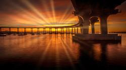 SunriseCoronadoBridge1sunrays