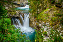 Johnston Canyon Falls3_HDRx