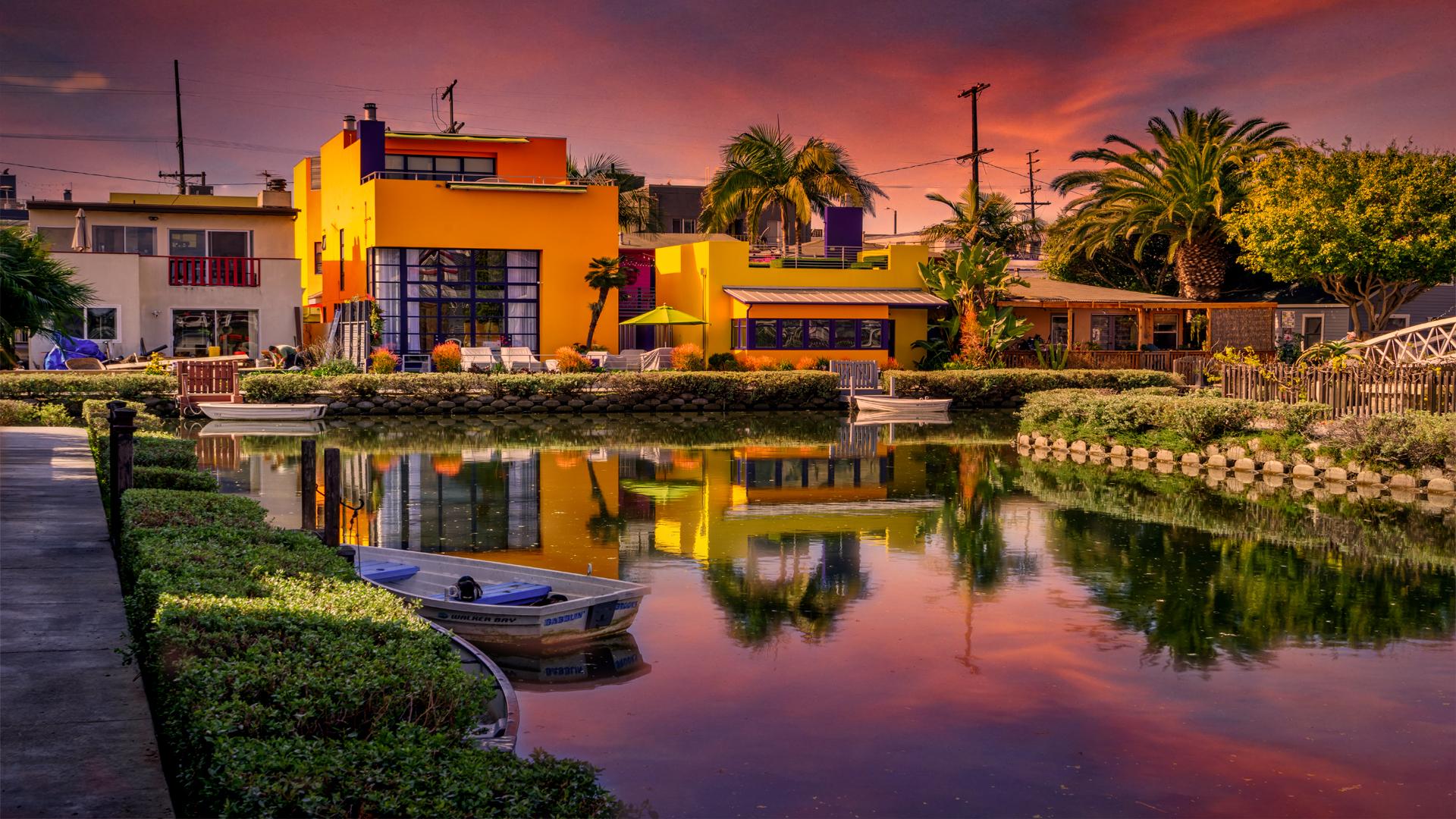 Venice Beach CanalsSunset4 2-14-18