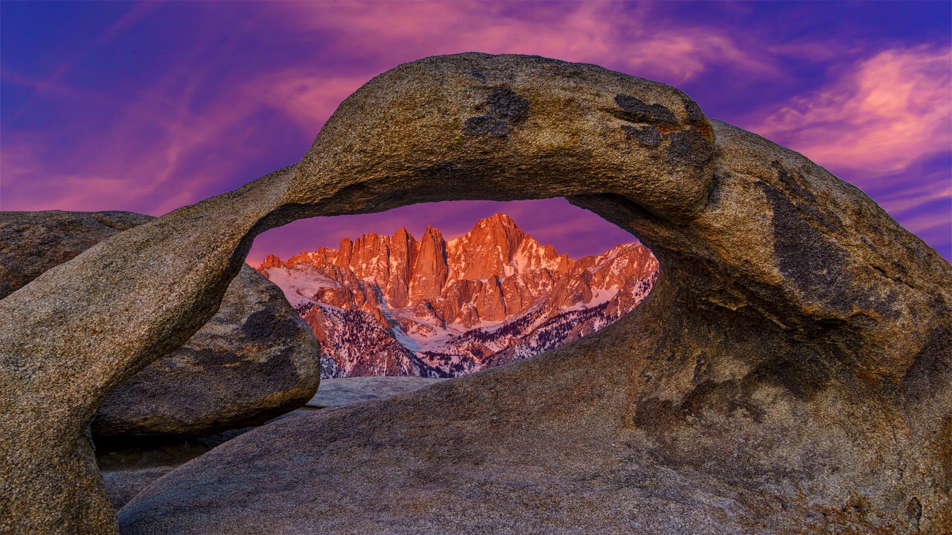 Sunrise Arch-Mt Whitney1 3-30-18