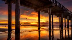 Scripps Pier1, La Jolla sunset