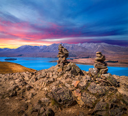 Lake Tekapo PanoSunset2x