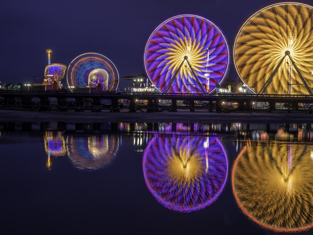Del Mar Fair at night, San Diego, Ca