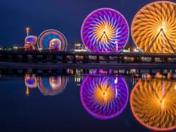Del Mar Fair at night, San Diego, Ca