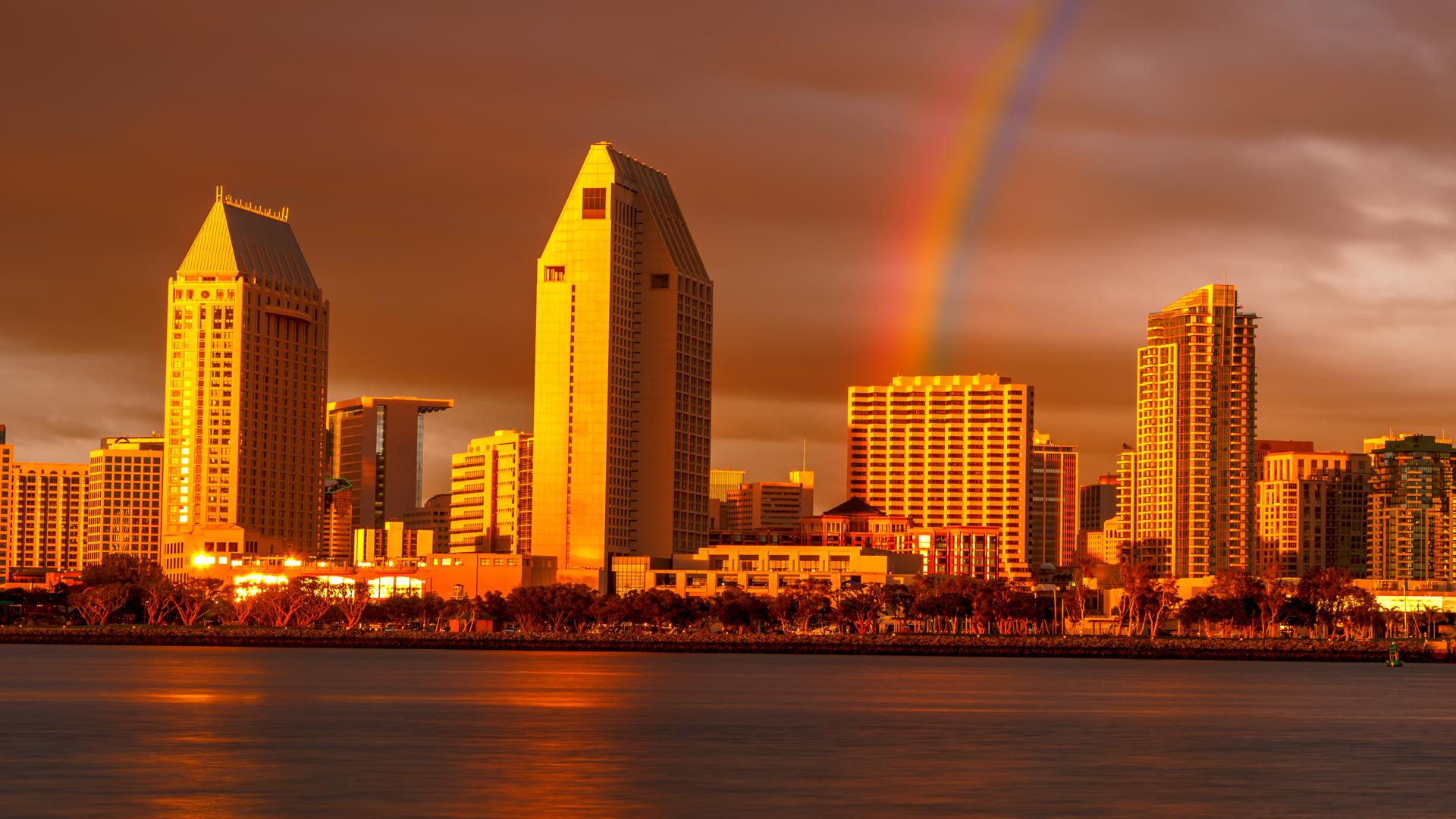 Cityscape Sunset Rainbow1, San Diego
