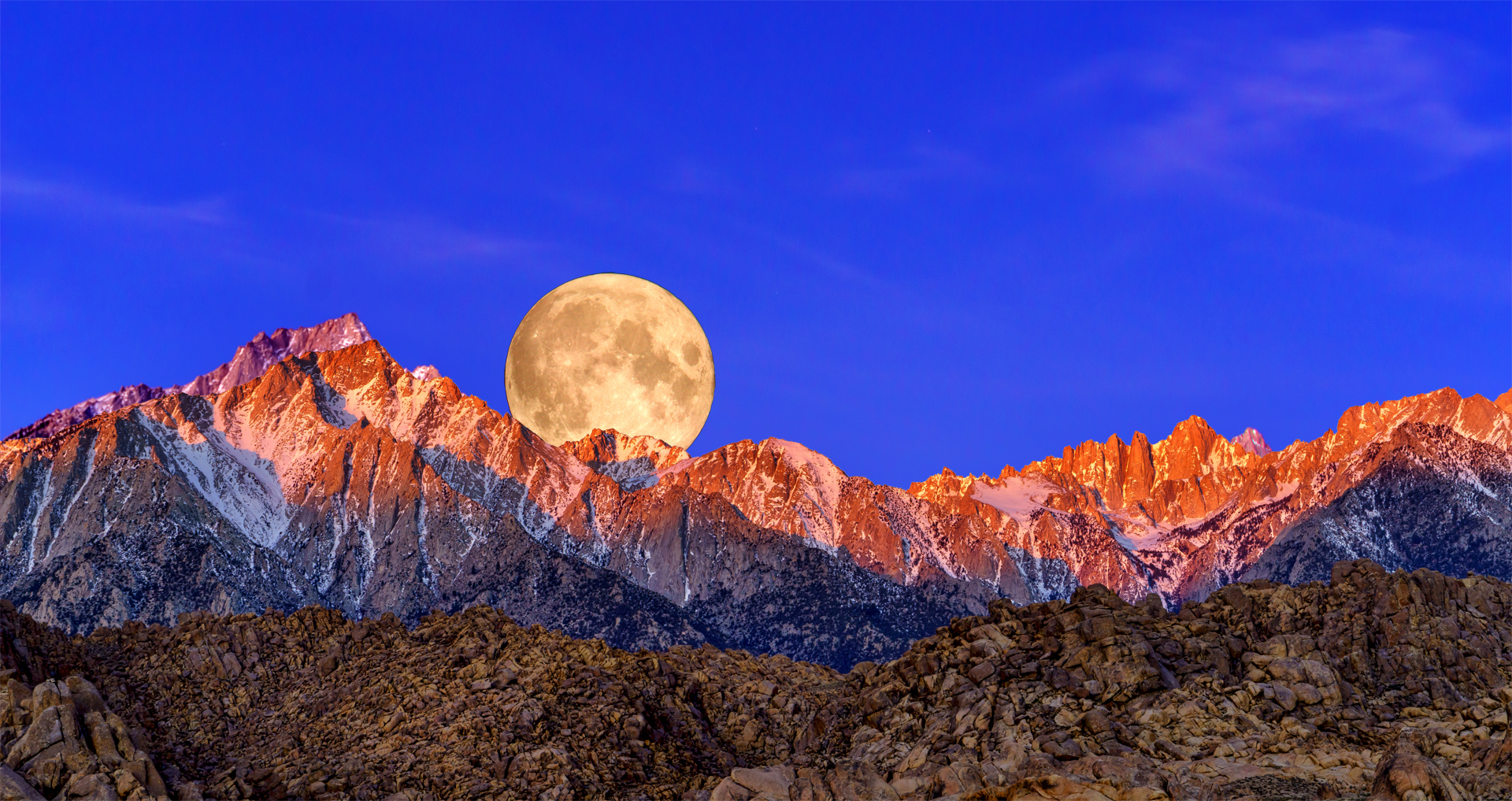 Full Moon Mt Whitney Range1 3-30-18
