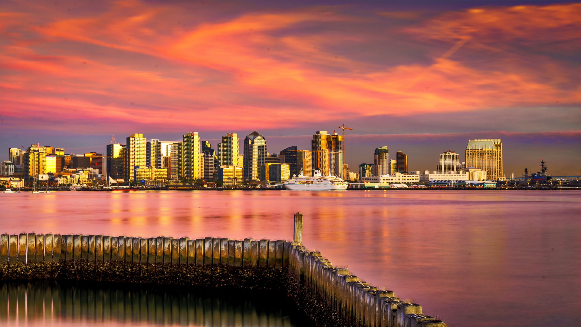 Cityscape Sunset1 San Diego